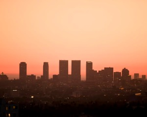 Century City Smoggy Sunset by raceytay.etsy.com